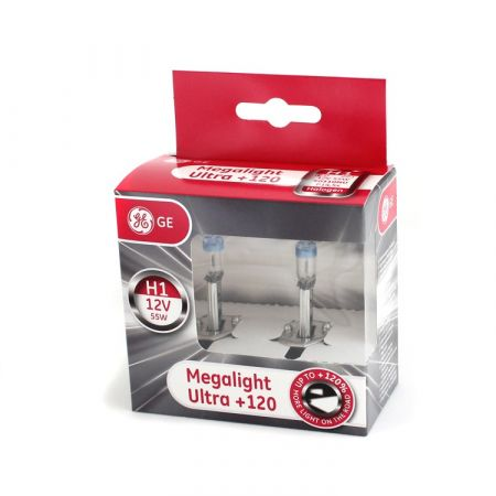 Halogenová žárovka H1 12V 55W Megalight Ultra 120, General Electric