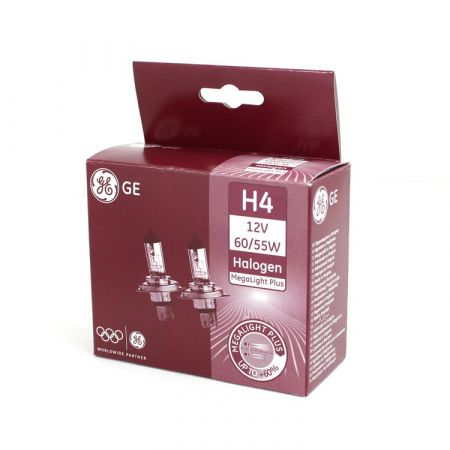 Halogenová žárovka H4 12V 60/55W Megalight Plus 50, General Electric