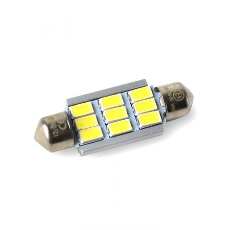 LED žárovka CAN BUS SUFIT 39mm, 12V, 9 LED, bílá, LED 39SUFIT 9-380