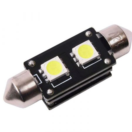 LED žárovka CAN BUS SUFIT 42mm, 12V, 2 LED, bílá, Michiba, HL 364