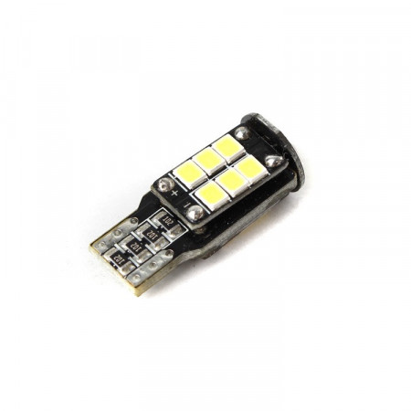 LED žárovka CAN BUS T10, 12V, 15 LED, bílá, Michiba, HL 517