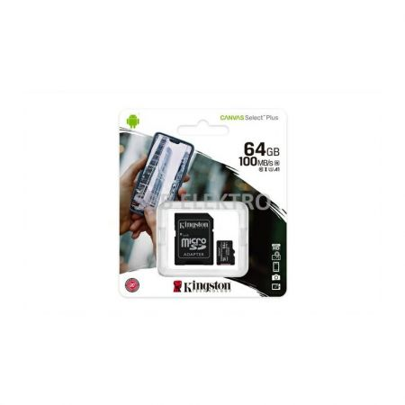 Paměťová karta 64GB Kingston micro SDXC Class 10, SD CARD 64GB